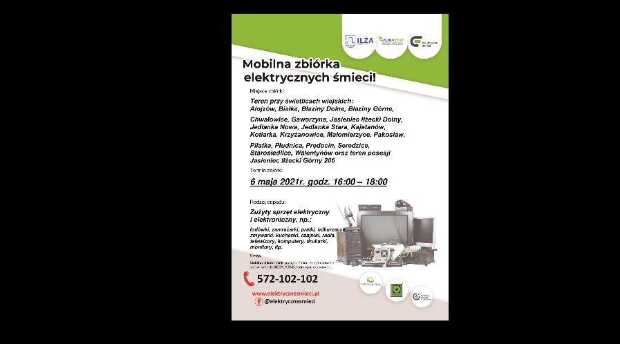 Mobilna zbiórka elektrycznych śmieci ponownie w gminie Iłża!
